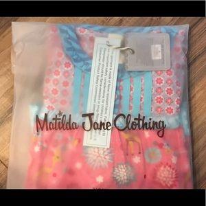 Matilda Jane Girls Pajamas Ruffle Set SZ 4T NWT